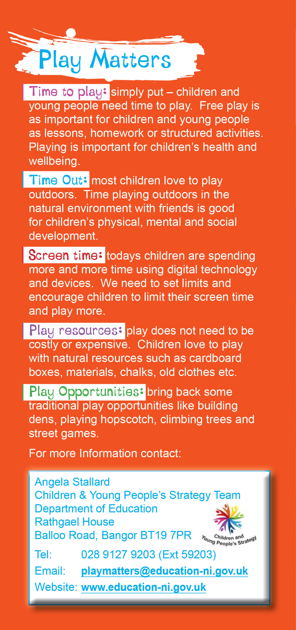 Play Matters Leaflet 2