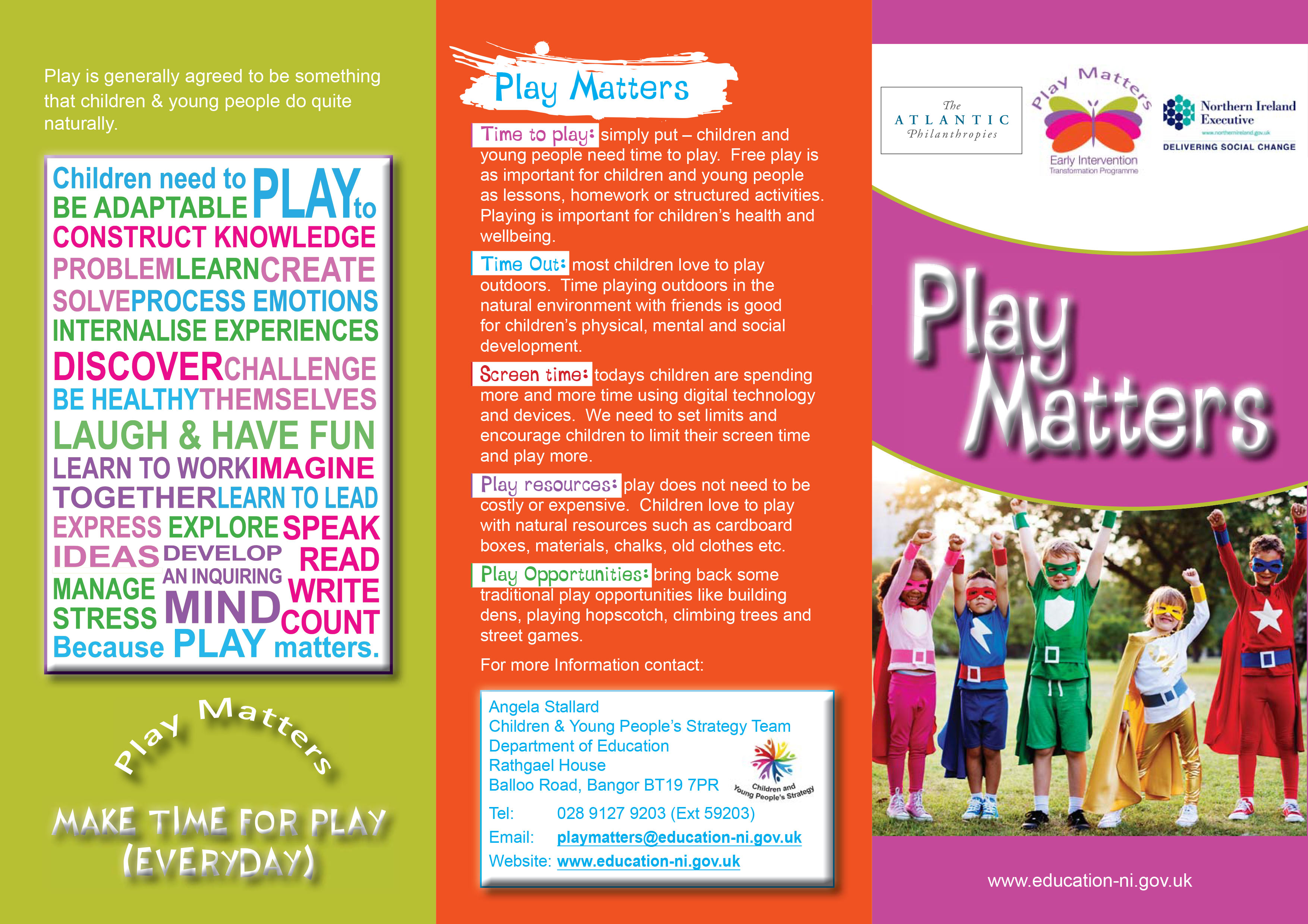 Play Matters Leaflet - Cover