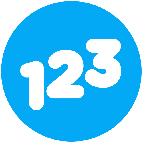 Website Icon - Blue - Numeracy