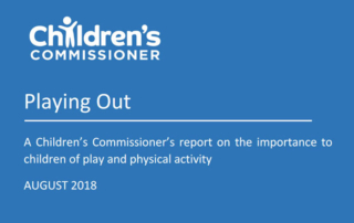 PlayBoard Latest News: Playing Out – Children's Commissioner Report – August 2018
