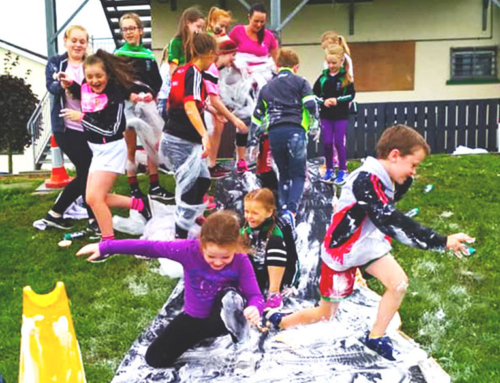 Play Participation – Shaving Foam Fight