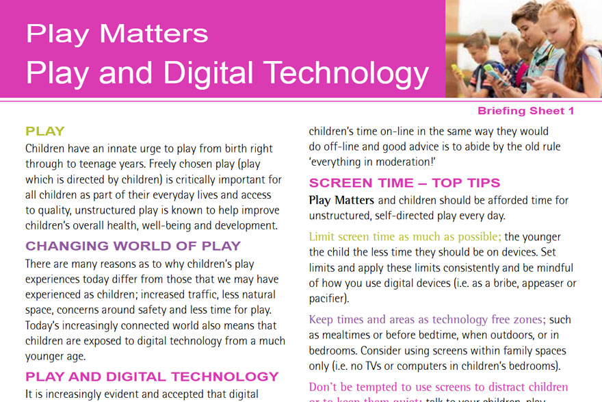 Play Matters - Play And Digital Technology