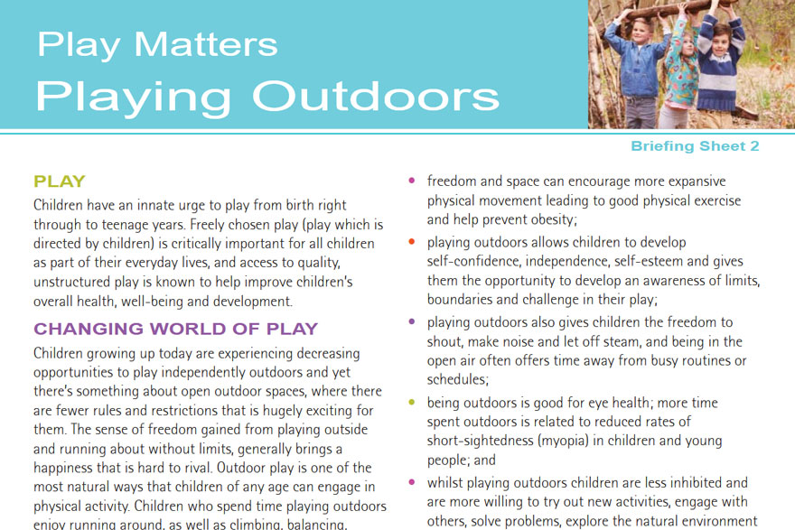 Play Matters - Playing Outdoors