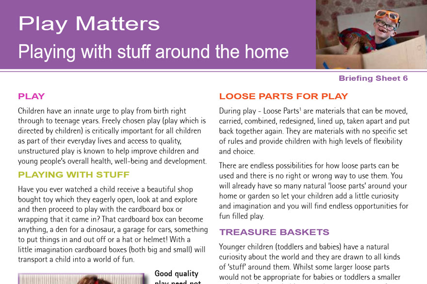Play Matters - Playing With Stuff Around The Home