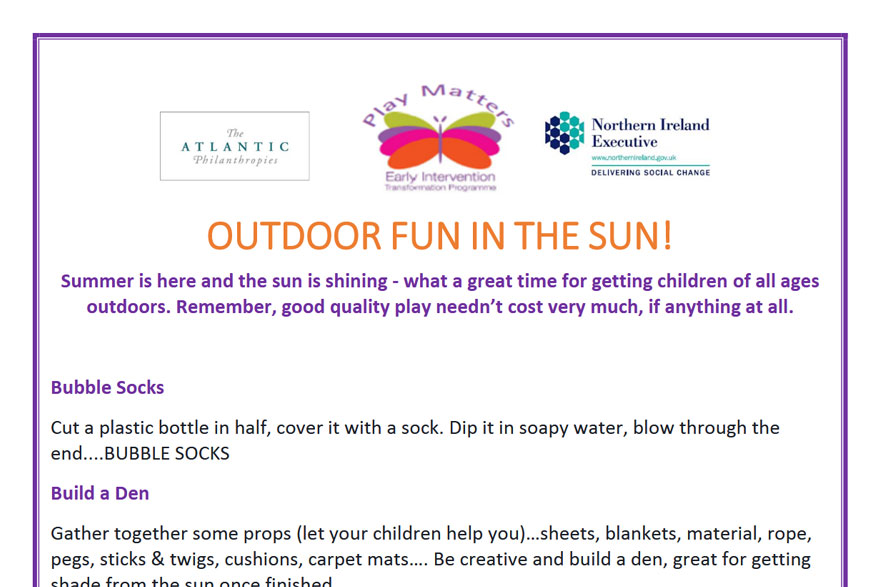 Play Matters - Outdoor Fun In The Sun