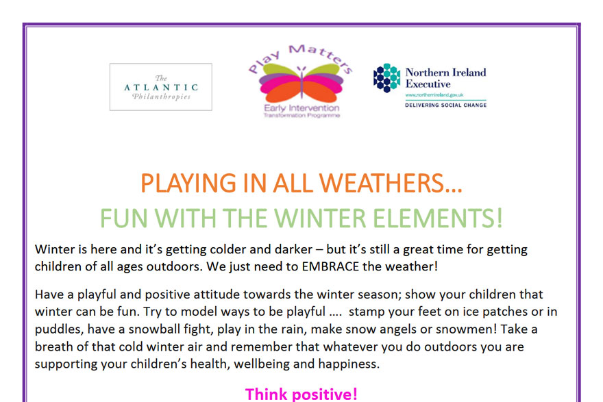 Play Matters - Playing In All Weathers