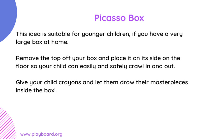 Picasso Box - Play Ideas - PlayBoard NI